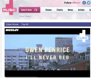 Owen Penrice on 4Music